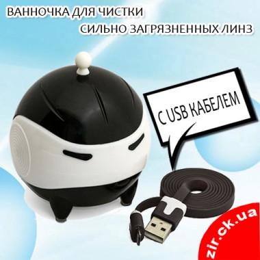Ультразвуковая ванночка для чистки сильно загрязненных контактных линз (с USB кабелем) черная, временно НЕТ в наличии