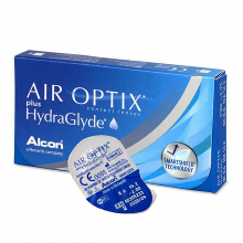 Air Optix plus HydraGlyde (-) (3 шт. + раствор)