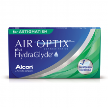 Air Optix plus HydraGlyde for Astigmatism (3шт.+1 в подарок)