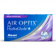 Air Optix plus HydraGlyde Multifocal (3 шт.) + раствор