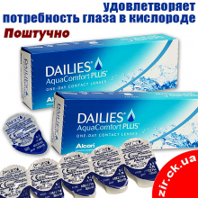 Dailies AquaComfort Plus, поштучно